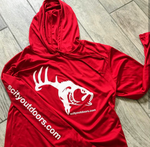 Red Long Sleeve Performance Hoodie