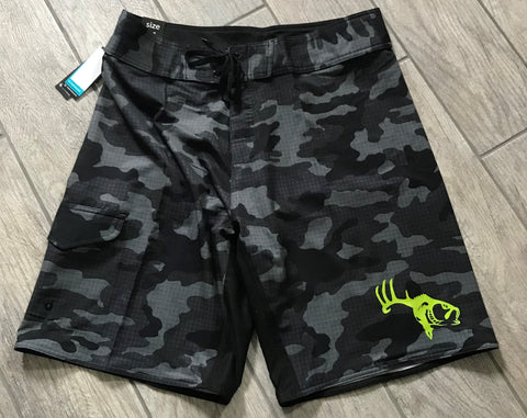 Hybrid Performance Fishing Shorts (Black Camo)