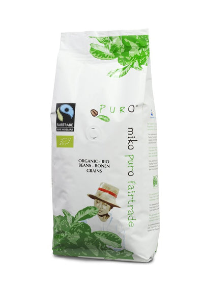 Puro Fairtrade Organic Beans (100% Arabica) - Available in 250g & 1kg sizes
