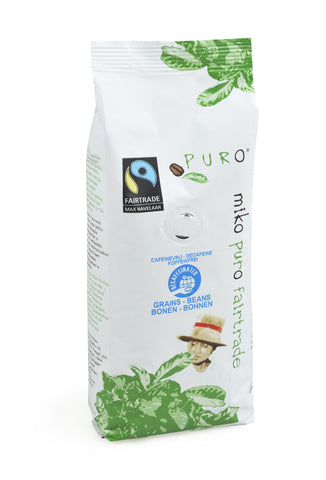 Puro Fairtrade Decaffeinated Beans (85% Arabica) - 250g