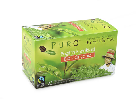 Puro Fairtrade Organic English Breakfast Tea Tag & Envelope Box of 25