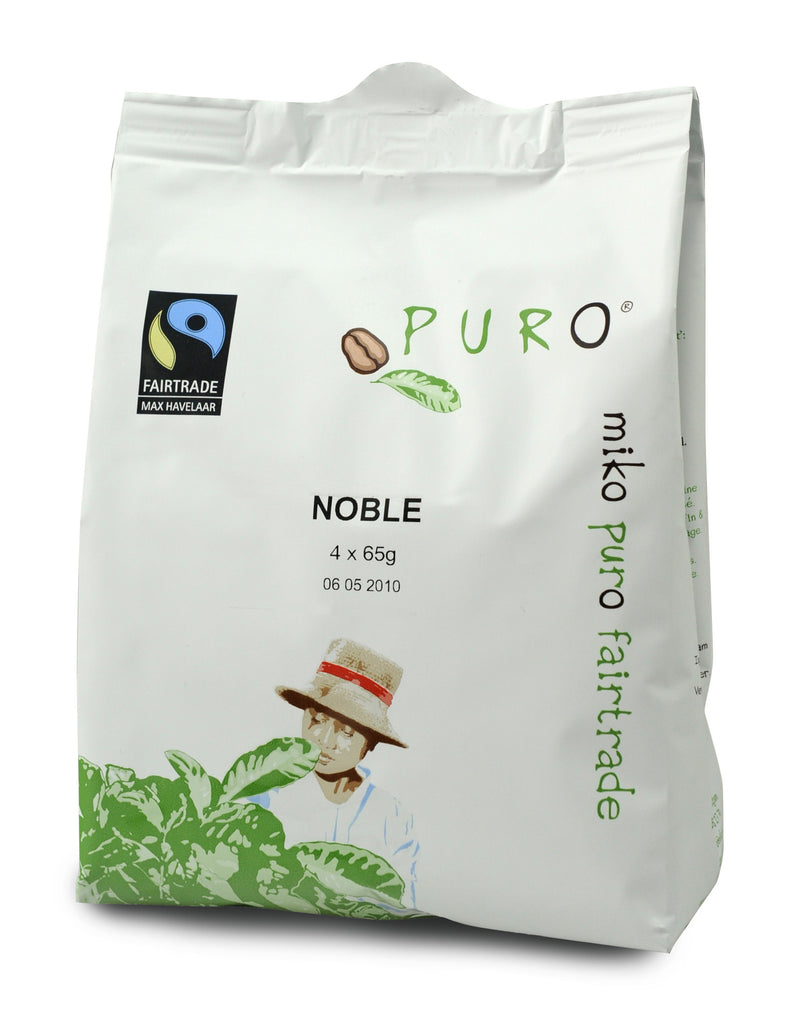 Puro Fairtrade Noble (80% Arabica) Pouch-Pack For 10-12 Cup Brewing