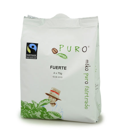 Puro Fairtrade Fuerte (80% Arabica) Pouch-Pack For 10-12 Cup Brewing
