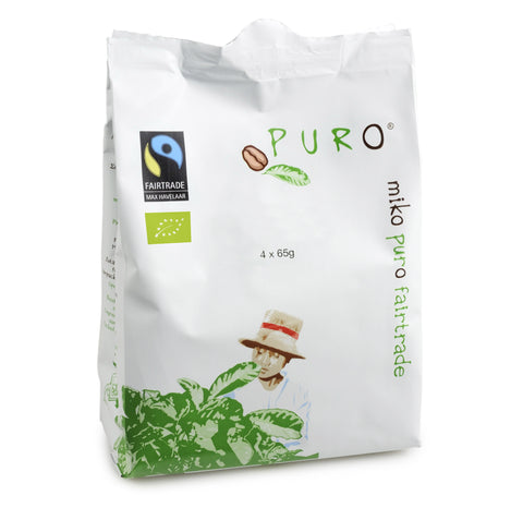 Puro Fairtrade Decaffeinated (80% Arabica) Pouch-Pack For 10-12 Cup Brewing