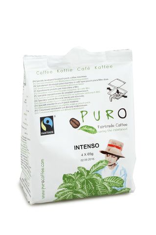 Puro Fairtrade Intenso (50% Arabica) Pouch-Pack For 10-12 Cup Brewing