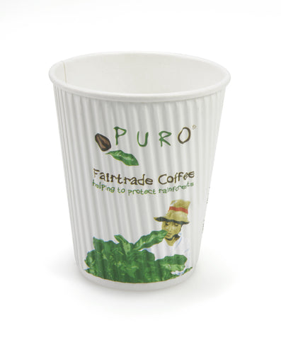 Puro Ripple 8oz Coffee & Tea Cup - Case of 500