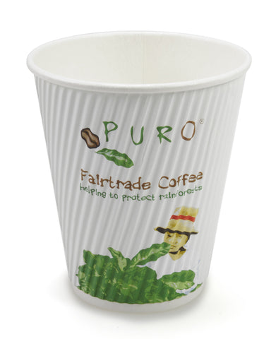 Puro Ripple 12oz Coffee & Tea Cup - Case of 500