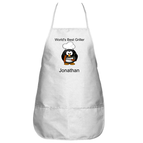 Customizable Penguin World's Best Griller Apron