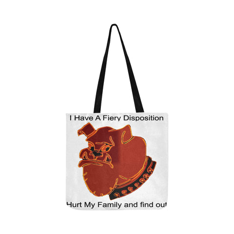 Fiery Disposition Hurt Family Reusable Shopping Bag Model 1660 (Two sides)