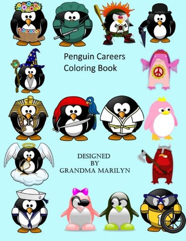 Penguin Careers Coloring Book