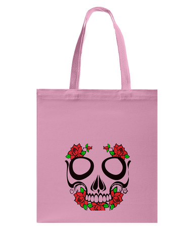 Skull and Flowers Tote Bag