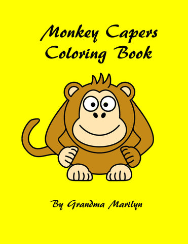 Monkey Capers Coloring eBook