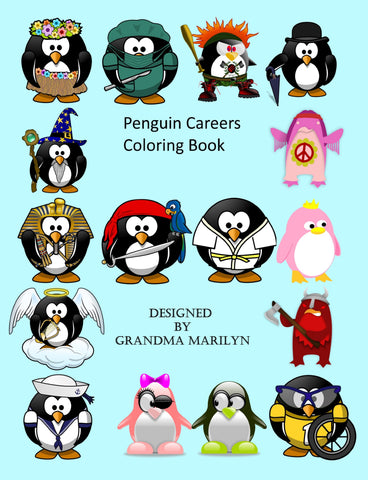 Penguin Careers Coloring eBook
