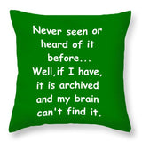 Archived And Brain - Throw Pillow