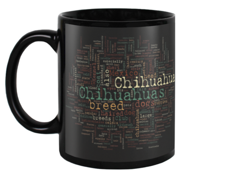 Chihuahua Word Cloud Mug