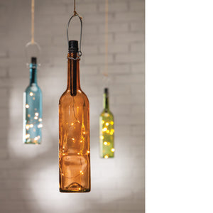 Wine bottle Lamp - Knot and Nest Designs