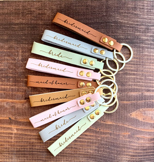Bridesmaid gift custom keychain - Knot and Nest Designs