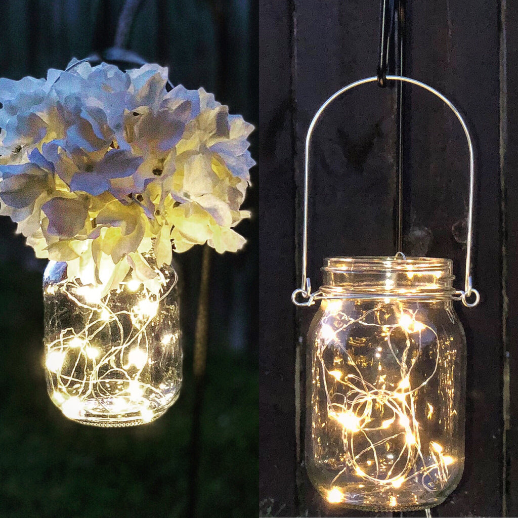 10 pack Rustic Hanging Mason jars - Knot and Nest Designs