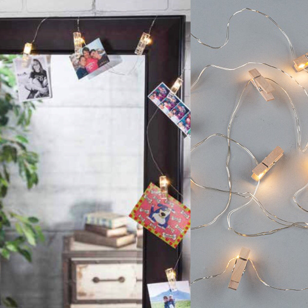 Strand lights with clips - Knot and Nest Designs