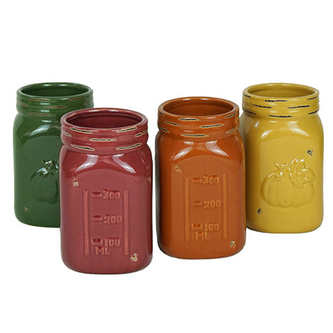 Fall Mason Jars set of 4 - fall decor
