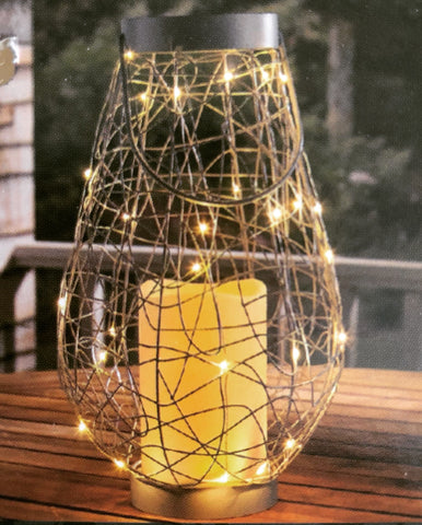 Silver Illuminated Lantern - Knot and Nest Designs