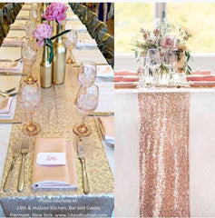 Gorgeous Sequin Table Runner - Knot and Nest Designs