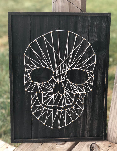 Halloween Skull String Art - Knot and Nest Designs