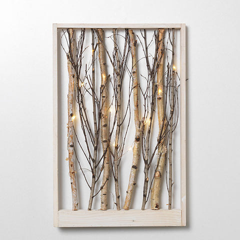 Lighted branch wall art - Knot and Nest Designs