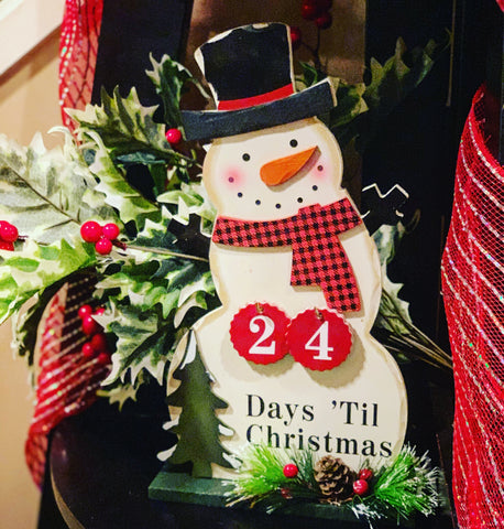 Snowman Countdown to Christmas Advent Calendar - Knot and Nest Designs