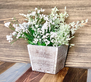 Square Birch Planter - Knot and Nest Designs