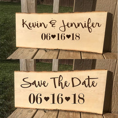 Choose your date - Custom Wood Engraved Save The Date