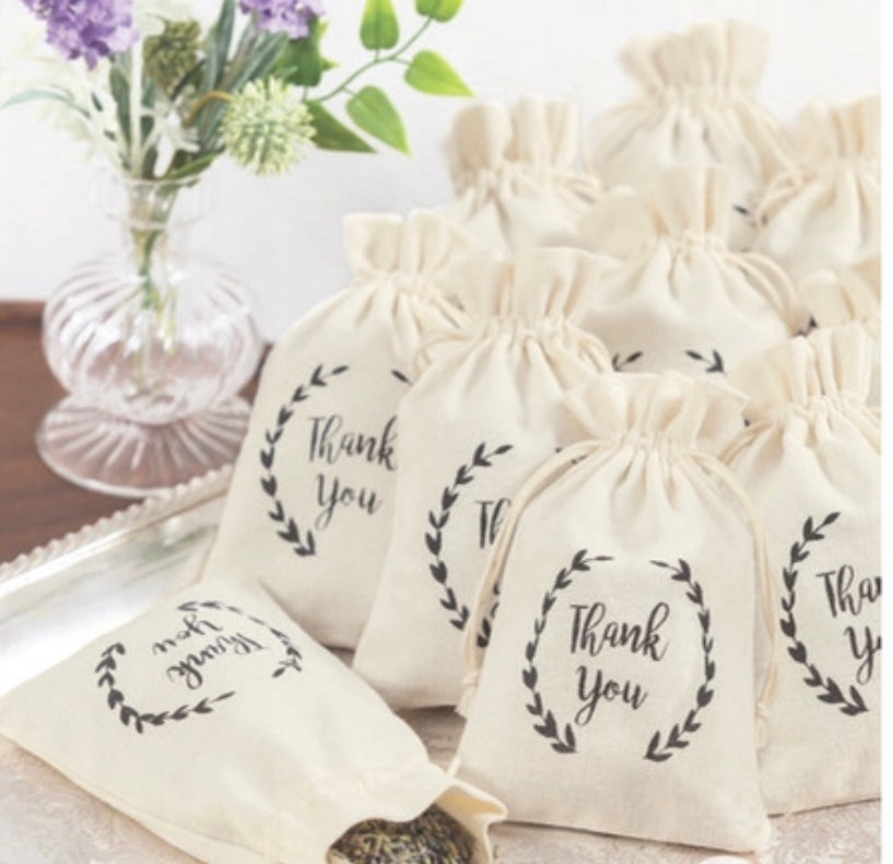 12 favor bags - Knot and Nest Designs