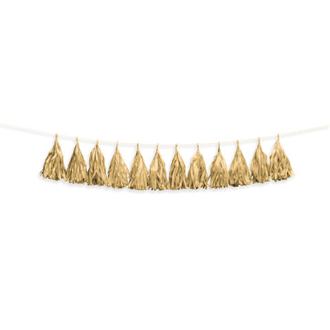 Gold tissue garland - Knot and Nest Designs