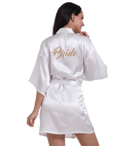 Bride Robe - Knot and Nest Designs