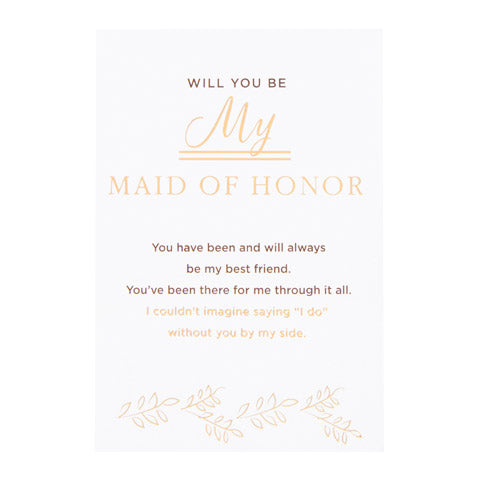 Bridesmaid/Maid of Honor Wine Bottle Label - Knot and Nest Designs