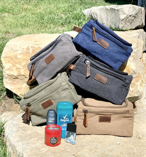 Custom men's toiletry bag