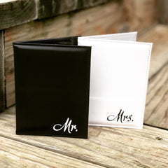Mr. and Mrs Passport Covers - Knot and Nest Designs