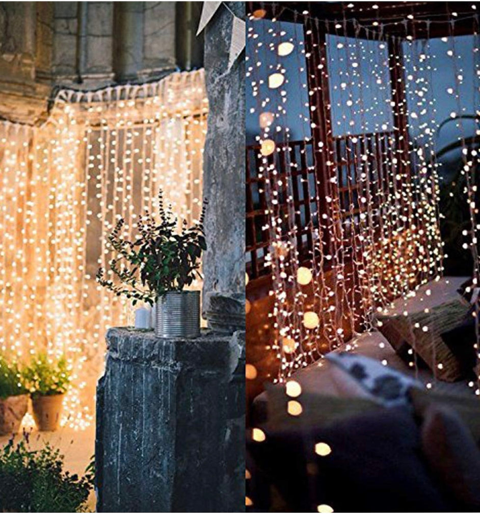 300 lights lighted curtain - Knot and Nest Designs