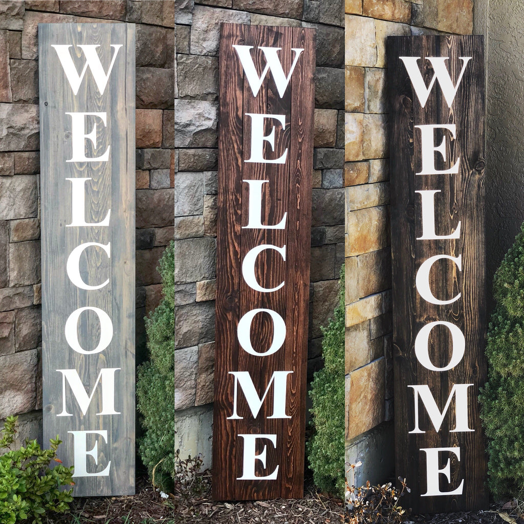 Welcome Wood Sign 6 Tall 5 Tall Or 4 Tall K And N Designs