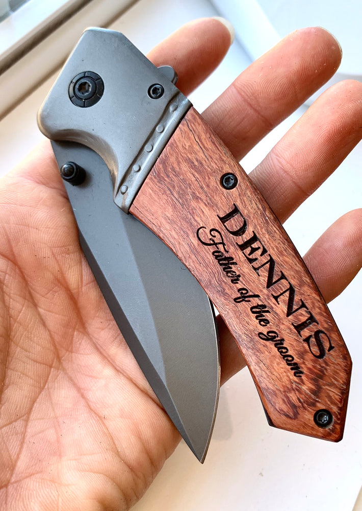 Mens Pocket Knife - Grooms Party gifts