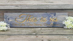 This is us Engraved Pinewood Sign - Knot and Nest Designs