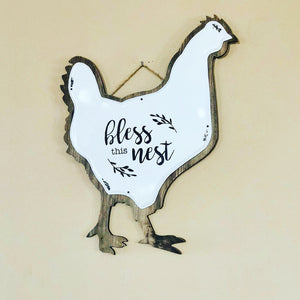 Farmhouse Bless This Nest Sign - Knot and Nest Designs