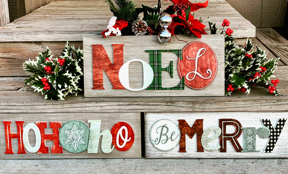 Vintage Holiday Sayings Sign - Choose your Style