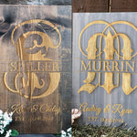 Custom Monogram Pinewood Sign