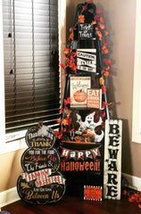 Giant free standing chalkboard sign - Thanksgiving decor - Knot and Nest Designs