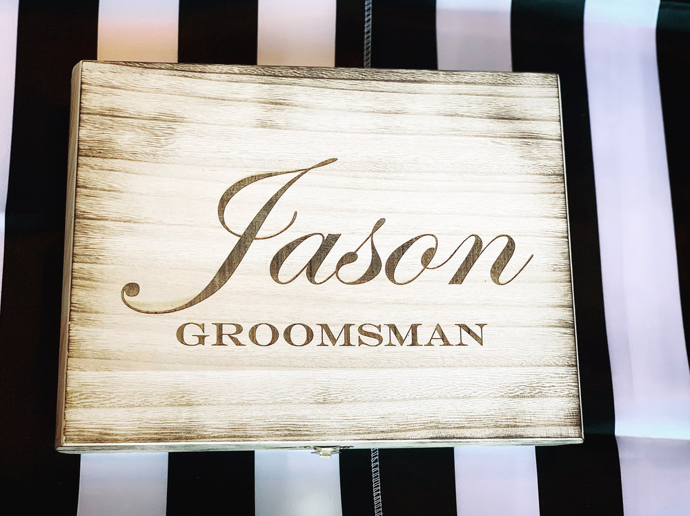 Groomsmen gift box - Knot and Nest Designs