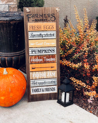 Large Farmers market fall sign - Thanksgiving decor - Knot and Nest Designs