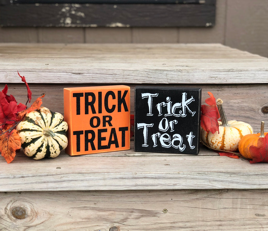 Halloween Decorative Box Signs - Knot and Nest Designs