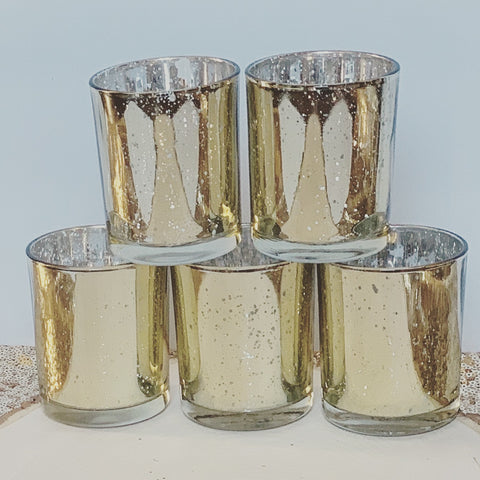 Large gold Mercury votives - 12 pack - Knot and Nest Designs