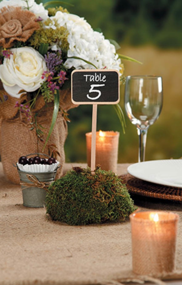 Load image into Gallery viewer, 4-pack Chalkboard wood Stake signs - Knot and Nest Designs
